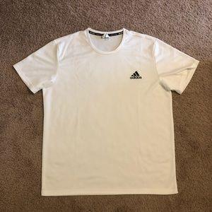 White Adidas Short Sleeve Workout Shirt